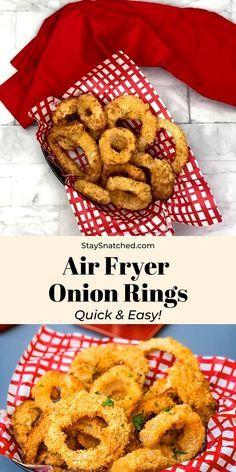 Air Fryer Recipes Snacks, Air Frier Recipes, Air Fryer Dinner Recipes, Air Fryer Recipes Videos, Air Fryer Recipes Vegetarian, Onion Rings Air Fryer, Air Fryer Recipes Onion Rings, Onion Recipes, Recipe For Onion