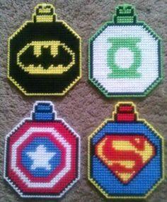 Superhero Ornament Plastic Canvas Pattern 3.00