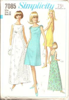 Vintage Sewing Pattern Simplcitiy 7085 Dress1967 by TenderLane, $12.00