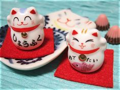 "Maneki Neko--The ""Beckoning Cat"" or ""Welcoming Cat."" It's for good luck and prosperity. And it's just so darn cute! I have a couple of them around my house. #Japan #cats"