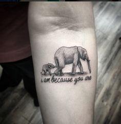 Tatouage mère enfant éléphant