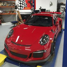 Porsche 991 GT3 RS painted in Paint to Sample Carmine Red Photo taken by: @ddwcarsinaz on Instagram