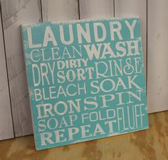 Laundry Subway Sign/Laundry Room by TheGingerbreadShoppe on Etsy, $24.95