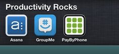 We wanted to share some of our favorite apps with you for being more productive. What are some of your favorite apps?