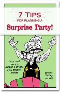 7 Tips for Planning a Surprise Party PLUS Surprise Party Invitations