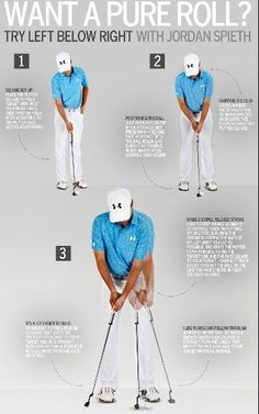 Golf Swing Check out Jordan Spieth Putting Tips! More golf tips everyday at Lori's Golf Shoppe Jordan Spieth Putting, Skate, Golf Mk4, Let's Golf, Golf Putting Tips, Golf Practice, Golf Chipping, Chipping Tips, Golf Videos