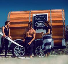 Land Rover Sauna Trailer