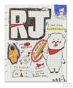 RJ 🐑 created by Jin 방탄소년단 Bts Bangtan Boy, Bts Jimin, Bts Drawings, Line Friends, Bts Chibi, Kpop, Bts Fans, Bts Wallpaper, Seokjin