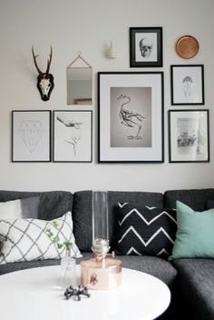 Sofias Inredning. Livingroom. Wall art. Tavelkollage. Chhatwal & Jonsson. Klong Patina