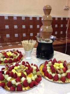 Fuente de Chocolate con Frutas Naturales!!!
