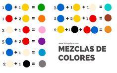 guía de mezclas de tintes para obtener diferentes colores