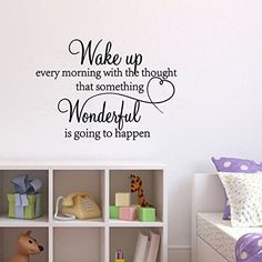 $5.99  - Wake Up Decal Wall Stickers  Latin English Poetry Wall Fairies DIY Removable Mural Home Decoration for Bedroom Living Room -- See this great product. (This is an affiliate link) #WallStickersMurals