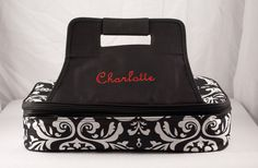 Personalized Casserole Carrier Double Insulated Damask  Embroidered by MilliesGifts on Etsy https://www.etsy.com/listing/96469143/personalized-casserole-carrier-double