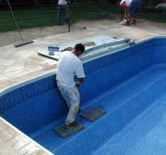 Almost done with our new inground pool liners. I really like the new inground pool liners.