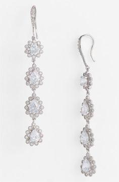 CZ by Kenneth Jay Lane Floral Earrings | Nordstrom #Nordstromweddings