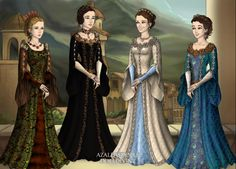 Four sisters by Arrelline on DeviantArt