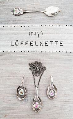 Nur noch...: Löffelkette - DIY Spoon pendant