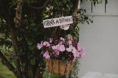 Wedding flower details. Lauren + AJ Backyard Indie Bohemian Long Island DIY Wedding. Dress and veil: Lindsey Thornburg. Shoes: Raphaella Booz. Photographer: Chellise Michael Photography in Brooklyn, NYC