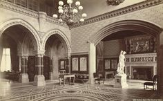 Eaton Hall. The Central Hall | Flickr - Photo Sharing! Victorian Hall, Victorian Castle, Eaton Hall, Pictures Of England, Cheshire England, Central Hall, English Interior, Grand Homes, Beautiful Buildings