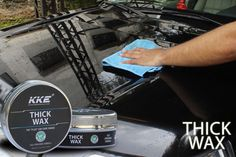 KKE Thick wax is a highly efficient paste wax which has natural carnauba wax in it. The wax is known for its protective nature and is the hardest natural wax available. Carnauba wax also has the highest melting point keeping the car protection even when the temperature soar.    #pastewax #paste_wax #carnauba_wax #wax #car_polish