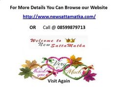 Satta Matka Results & Kalyan Matka Tips & more information...