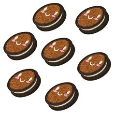 10 pcs funny Biscuit patches badges for clothing iron embroidered patch applique iron on patches sewing accessories for clothes-in Patches from Home & Garden on Aliexpress.com | Alibaba Group
