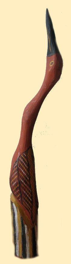 Carving of a bird from Arnhem Land
