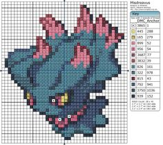 So we start off Birdie Stitching's pokémon halloween countdown with Misdreavus! This is one of the cuter, and less terrifying ghost pokémon, it's just a bit of a prankster. Beaded Cross Stitch, Crochet Cross, Cross Stitch Embroidery, Hama Beads, Pokemon Perler Beads, Cross Stitch Designs, Cross Stitch Patterns, Pokemon Halloween, Pokemon Cross Stitch