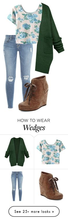 """""""Untitled #1239"""" by milesofsmiles12345 on Polyvore featuring Frame Denim, Dolce Vita and WithChic"""