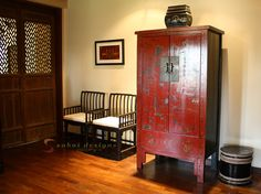 asian home decor | Bedroom decorated in Asian Home Decor style including Burmese antiques