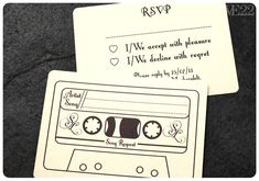 RSVP with a song ... Great idea! The Awesometastic Bridal Blog