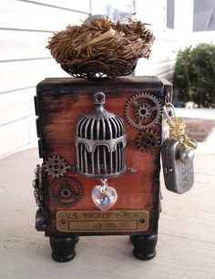 Steampunk Birdhouse In Your Soul ATB - PAPER CRAFTS, SCRAPBOOKING & ATCs (ARTIST TRADING CARDS)