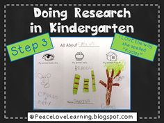 Kindergarten Research - Peace Love and Learning