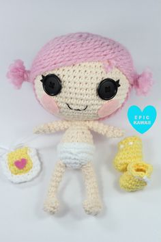 Lalaloopsy Little baby Crochet Amigurumi Doll pattern