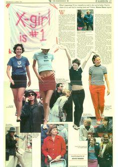 X-Girl article featuring Sofia Coppola, Kim Gordon, Zoe, Ione, Donovan Leitch… 2000s Fashion, New Fashion, Vintage Fashion, Fashion Outfits, Fashion Tips, Fashion Trends, Girl Fashion, 90s Teen Fashion, Kim Gordon