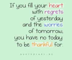 be thankful today