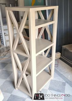 Ana White Build A Rustic X Tall Bookshelf Free And