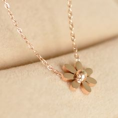 Flower Necklace on Chain