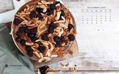 For the month of December food really does take centre stage. Here's December's free wallpaper to help you get in the festive food spirit. Food Festival, Acai Bowl, Centre, Festive, Stage, December, Spirit, Wallpapers, Breakfast