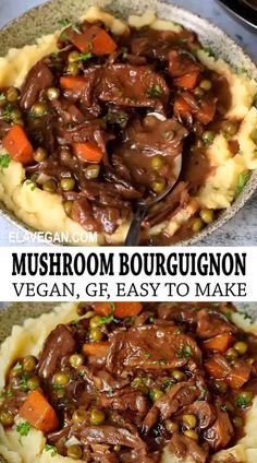 Tasty Vegetarian Recipes, Vegan Dinner Recipes, Vegan Dinners, Vegan Recipes Easy, Whole Food Recipes, Vegetarian Recipes With Mushrooms, Recipes For Vegetarians, Vegan Polenta Recipes, Vegetarian Mushroom Recipes