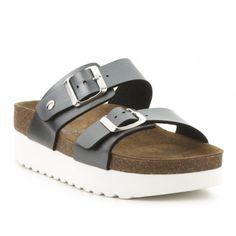 Sandalia flatform piel CREEKS Ugly, Outlet, Birkenstock Arizona, Leather Sandals, Shoes, Fashion, Shoes Sandals, Winter, Women