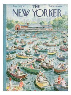 The New Yorker Cover - June 23, 1956 Regular Giclee Print