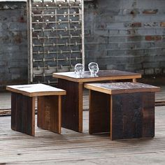 Jackson Nesting Tables $475 - Age has given these pieces a deeper, richer patina that will last for generations.
