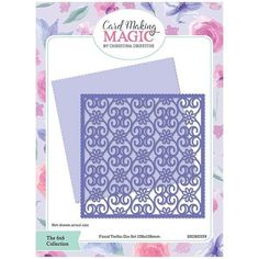 Card Making Magic Die Set Floral Trellis | 6x6 Collection by Christina Griffiths