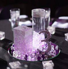 Purple wedding table centerpiece #Purple wedding receptions ...