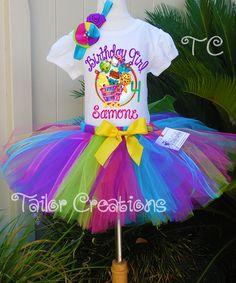 Shopkins Personalized Birthday tutu Dress Set