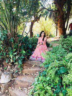 Summery elegance. Instagram @Sindhujaa #fashion #anarkali  #pastel #indian #salvar #salwar #cotton #pearls #colors #colors #traditionalwear
