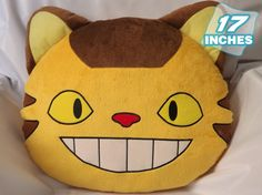 Size: 17 inches Set of: 1 Weight: 800 g Studio Ghibli, Cat Bus Totoro, Chat Bus, Nerd Bedroom, Totoro Pillow, Crochet Totoro, Totoro Nursery, Halloween Sewing, Kawaii Plush