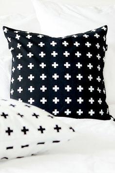 Via Envelop | Plus Minus Pillow by Bildschœn | Black | €20