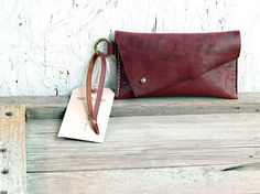 Tobacco Pouch simple leather pouch case wristlet / by FeralEmpire, $48.00